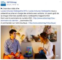Votre ostéopathe à Paris 3 et à Paris 12 : L'ostéopathe magazine, interview  dossier ostéopathie et autisme