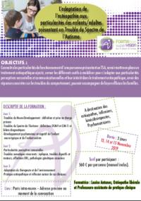 Votre ostéopathe à Paris 3 et Paris 12 : Prochaine formation ostéopathie et autisme